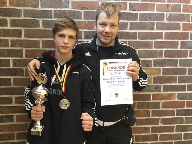 Boxen Deutscher Vizemeister 2017 Emil Schneider