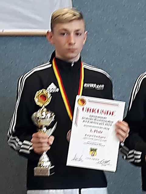 Kacper Gardyjasz erkämpft sich DM-Bronze